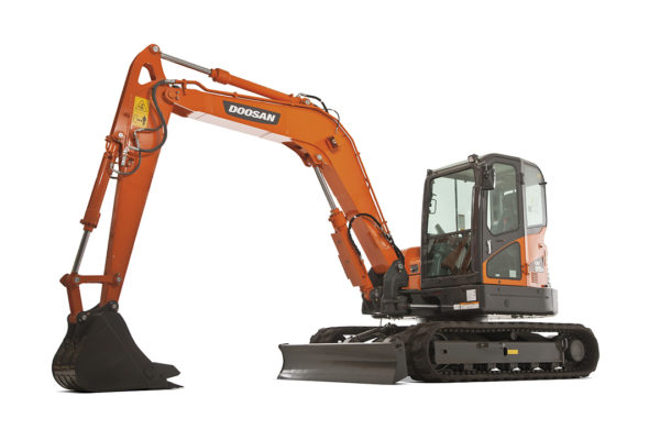 Doosan DX85R-3 excavator ready to hire from BPH