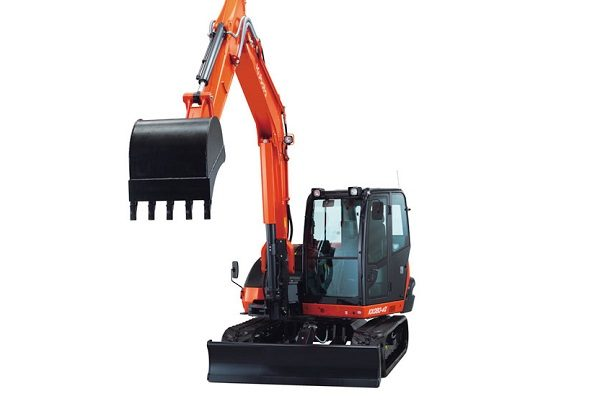 The Kubota eight-foot cabbed excavator offers superior digging power